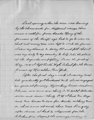 William Sogg's Farm Cadet Essay