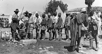 German and Turkish Prisoners of War in Jersulaem