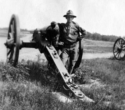 Soldier at a Cannon