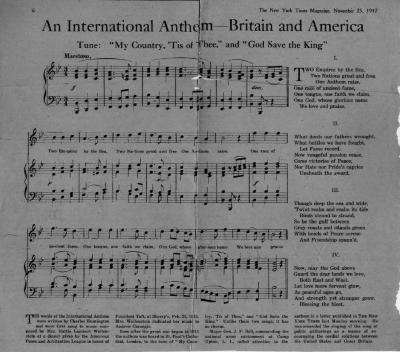 An International Anthem - Britain and America