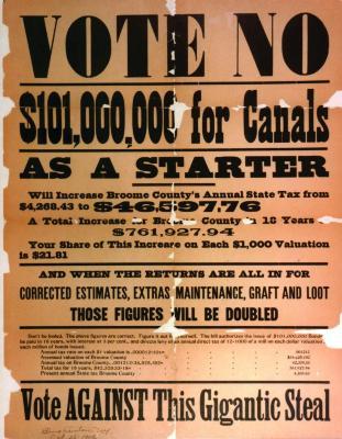 Public Persuasion: Vote No! Erie Canal Broadside