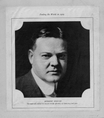 Red Cross Portrait of Herbert Hoover