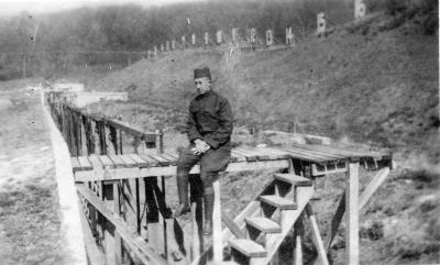 Carl Hapeman at a Rifle Range
