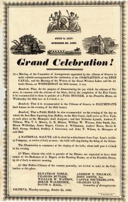 Grand Celebration of the Erie Canal in Geneva, New York