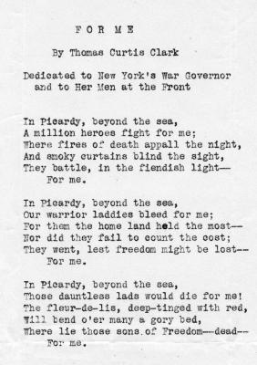 """War Poem """"For Me"""""""