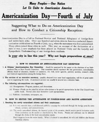 Americanization Day