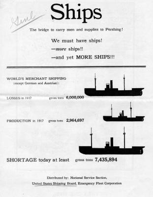 We Must Have Ships! United States Shipping Board