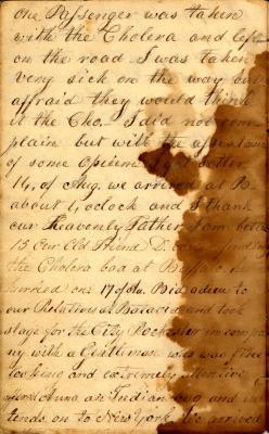 Diary of Rachel Wilmer, 1834