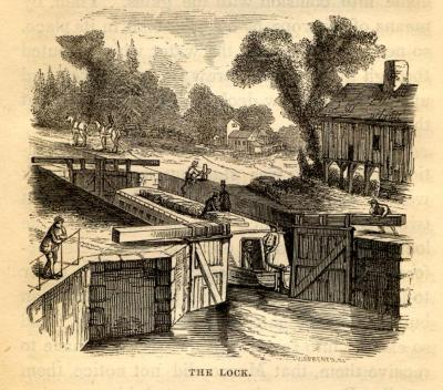 """Engraving of """"The Lock,"""" 1852"""