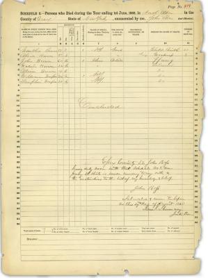 John Brown Death Census