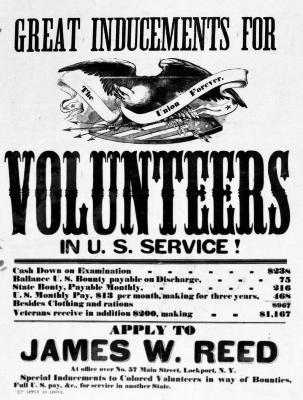 Civil War Recruitment Broadside