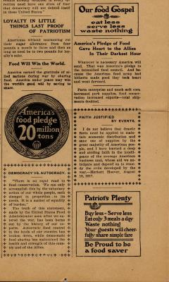 """Food Rationing, """"Loyalty in Small Things Last Proof of Patriotism"""""""